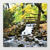 waterfall Canvas Prints featuring Waterfall by Juliana RW