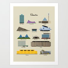 Edmonton Modern Buildings Art Print