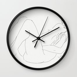 Henri Matisse Nude Sketch - Naked Woman 1920 Wall Clock