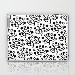 Mid Century Modern Berries Pattern Black & White Laptop & iPad Skin