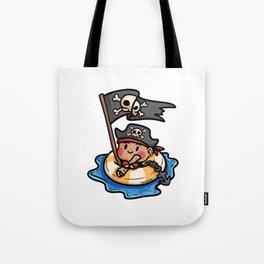 Pirate life buoy anchor treasure map Kids gift Tote Bag