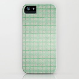 Pale Sea Plaid iPhone Case