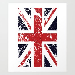 Union Jack Faded United Kingdom Flag 9 Art Print