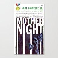 vonnegut Canvas Prints featuring Vonnegut - Mother Night by Neon Wildlife