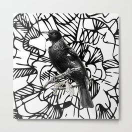 Tui _ BK/W/B Metal Print