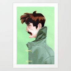 Brunette Man Art Print