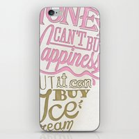 philosophy iPhone & iPod Skins featuring Ice cream eater's philosophy by eli*