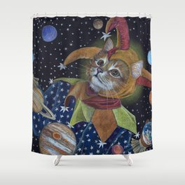 Juggling the Planets Shower Curtain