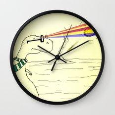 Hipster Laser Dinosaur Wall Clock