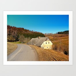 Traditional abandoned farmhouse | architectural photography Art Print