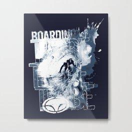 Boarding Trybe Tube, Hawaiian Surf Graphic  Metal Print