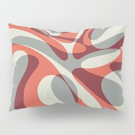 Orange Wave Pillow Sham