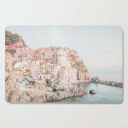 Positano, Italy Amalfi coast pink-peach-white travel photography in hd Cutting Board