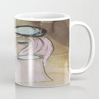 art history Mugs featuring Pink Ladies: Art History by Amy Burvall