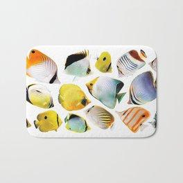 Butterflyfish_White base Bath Mat