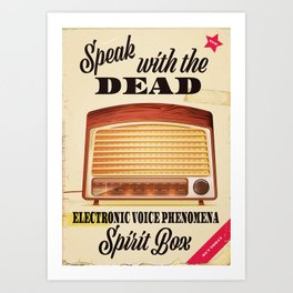 Electronic voice phenomenon Ghost hunting Art Print