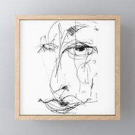 Doodle Face 15 by Kathy Morton Stanion Framed Mini Art Print