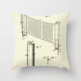 Combined case and post for lawn-tennis nets-1908 Throw Pillow