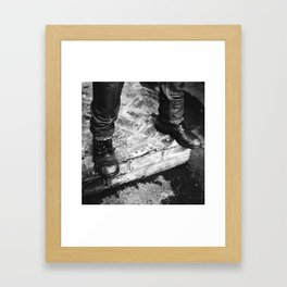 Boots and Concrete Framed Art Print