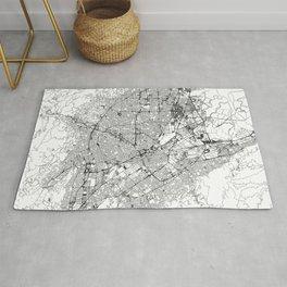 San Jose White Map Rug