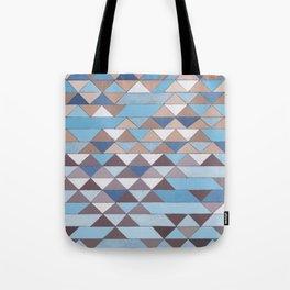 Triangle Pattern No.6 Crisp Blue Tote Bag