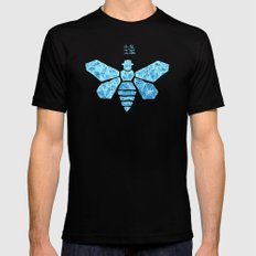 Chemical Blue Mens Fitted Tee MEDIUM Black