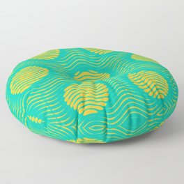 Orange and Teal  Geometric Pattern Floor Pillow