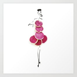 Edible Ensembles: Watermelon Radish Art Print