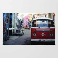vw Area & Throw Rugs featuring Vw T1 by Nechifor Ionut