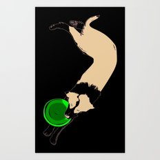 Disc Dog - Border Collie Art Print