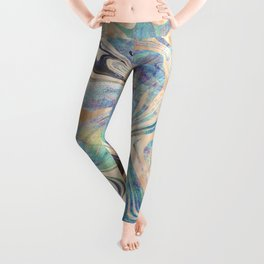 Liquid Bronze Mermaid Sea Marble Leggings