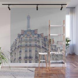 Paris photography, Eiffel tower, Saint-Germain-des-Prés, Paris architecture, boulevard Wall Mural