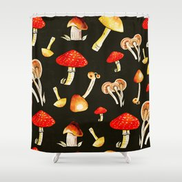 Brigt Mushrooms Shower Curtain