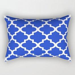 Arabesque Architecture Pattern In Royal Blue Rectangular Pillow