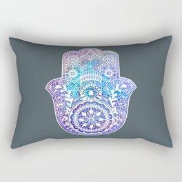 Space Hamsa Hand - I Rectangular Pillow