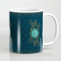 letter Mugs featuring Letter G by Britta Glodde