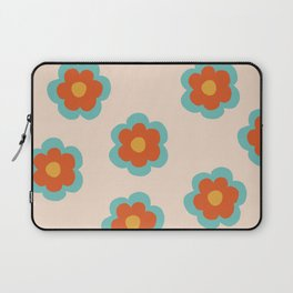 70s Retro Flowers  Laptop Sleeve