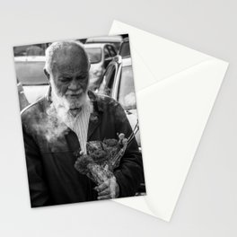 Carnation Flower Man Stationery Cards