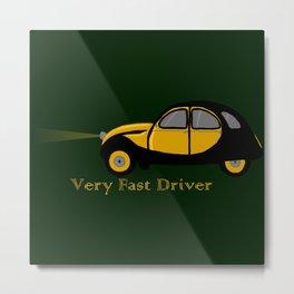 Very Fast Driver Metal Print