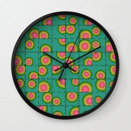 Tiled circular gradients Wall Clock