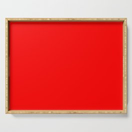 Minimalist Era - Red #ff0000 Serving Tray
