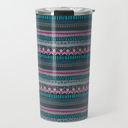 Modern Tribal Print Floral Travel Mug