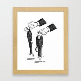 Hommes En Noir Par Lot De Deux Framed Art Print