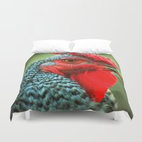 rooster Duvet Covers featuring Rooster by Nichole B.