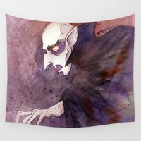 jojo Wall Tapestries featuring Nosferatu by JoJo Seames