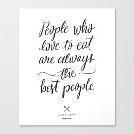 The Best People // Light Canvas Print