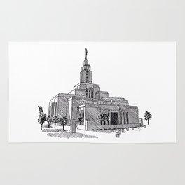 Draper Utah LDS Temple Rug