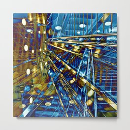 Blue Lines of Berlin Metal Print