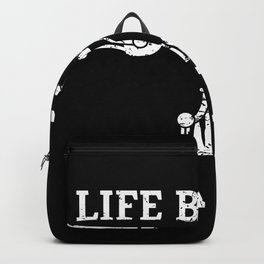Life Behind Bars Distressed Bike Fan Art and Cycling Gift design Backpack