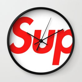 Supreme Red Letters Wall Clock